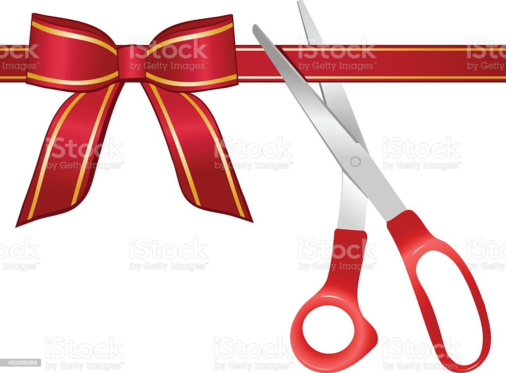 Ribbon Cutting royalty-free stock vector art