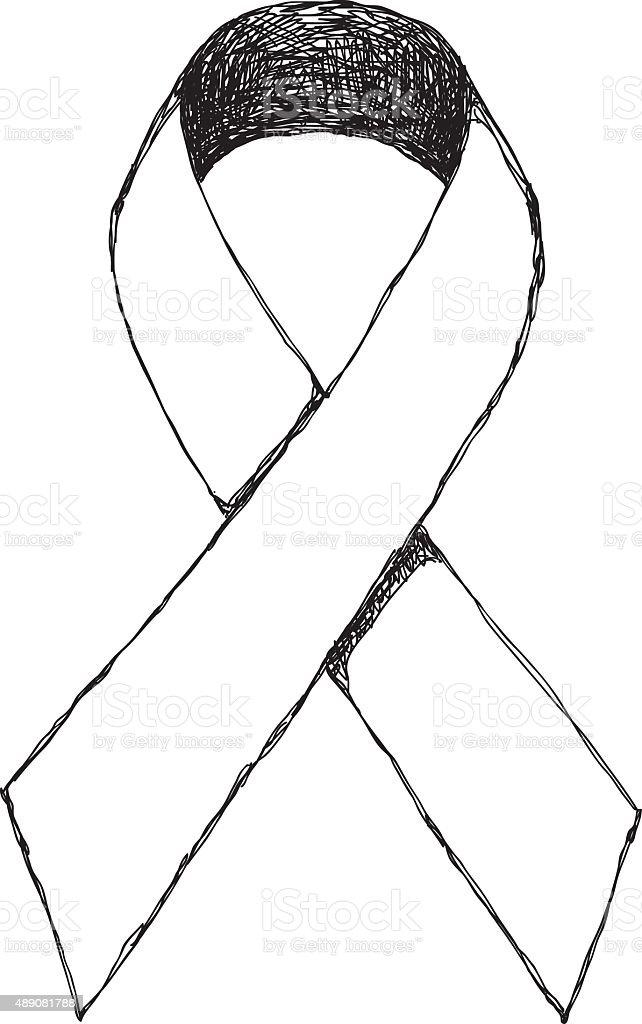 Ribbon Drawing vector art illustration