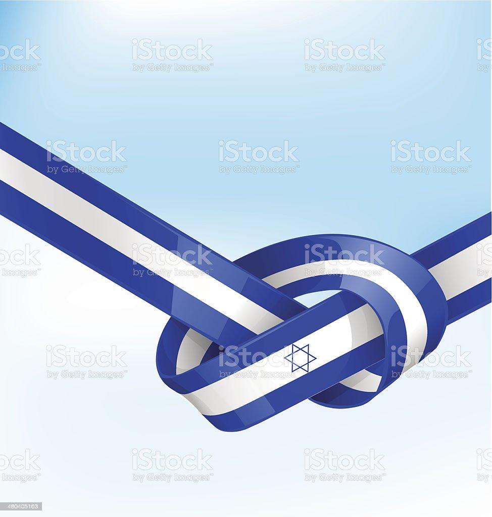 ISDRAEL ribbon flag vector art illustration