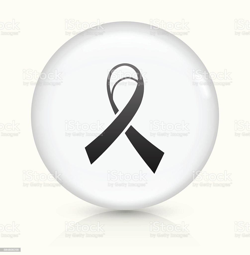 Ribbon icon on white round vector button vector art illustration