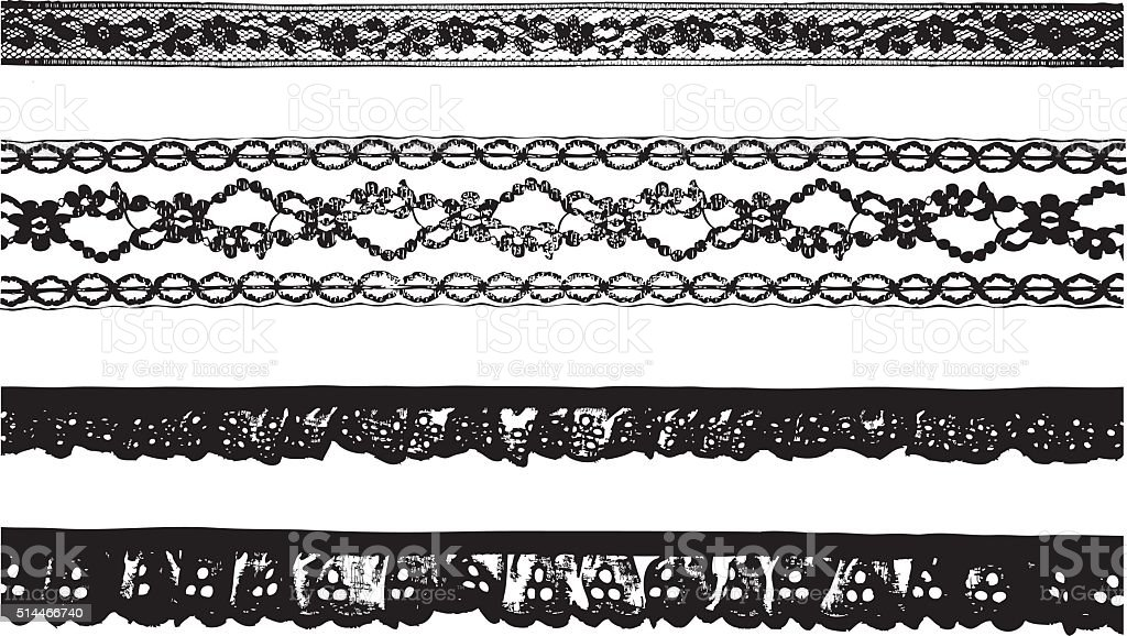 Ribbon Lace vector art illustration