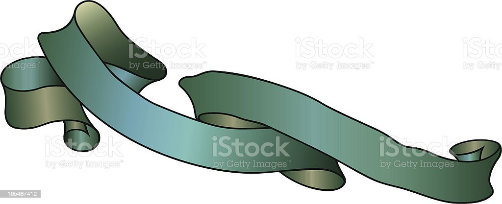 Ribbon Lettering Scroll royalty-free stock vector art