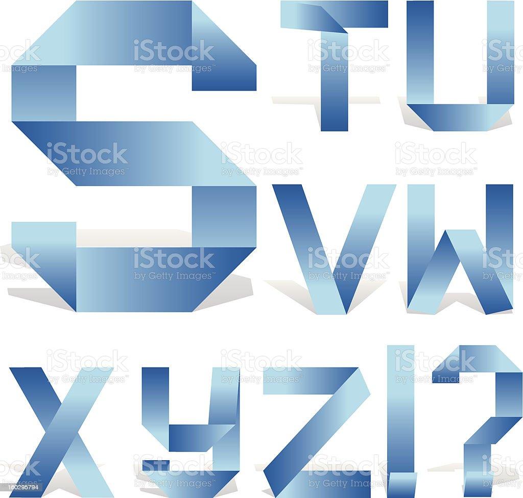 ABC ribbon part 3 royalty-free stock vector art