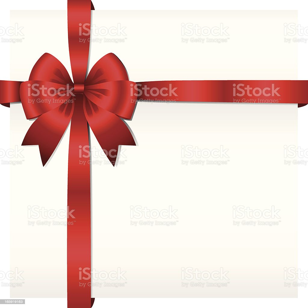 Ribbon Present Background royalty-free stock vector art