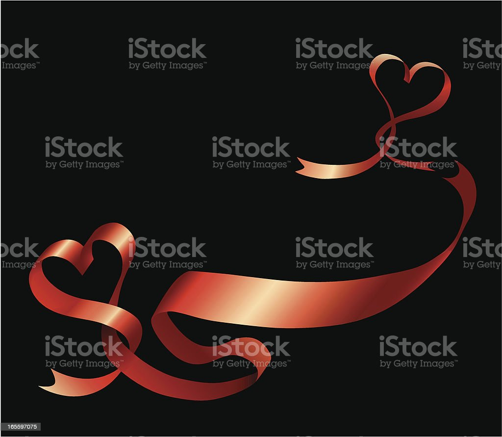 Ribbon rolled up in the shape of heart royalty-free stock vector art