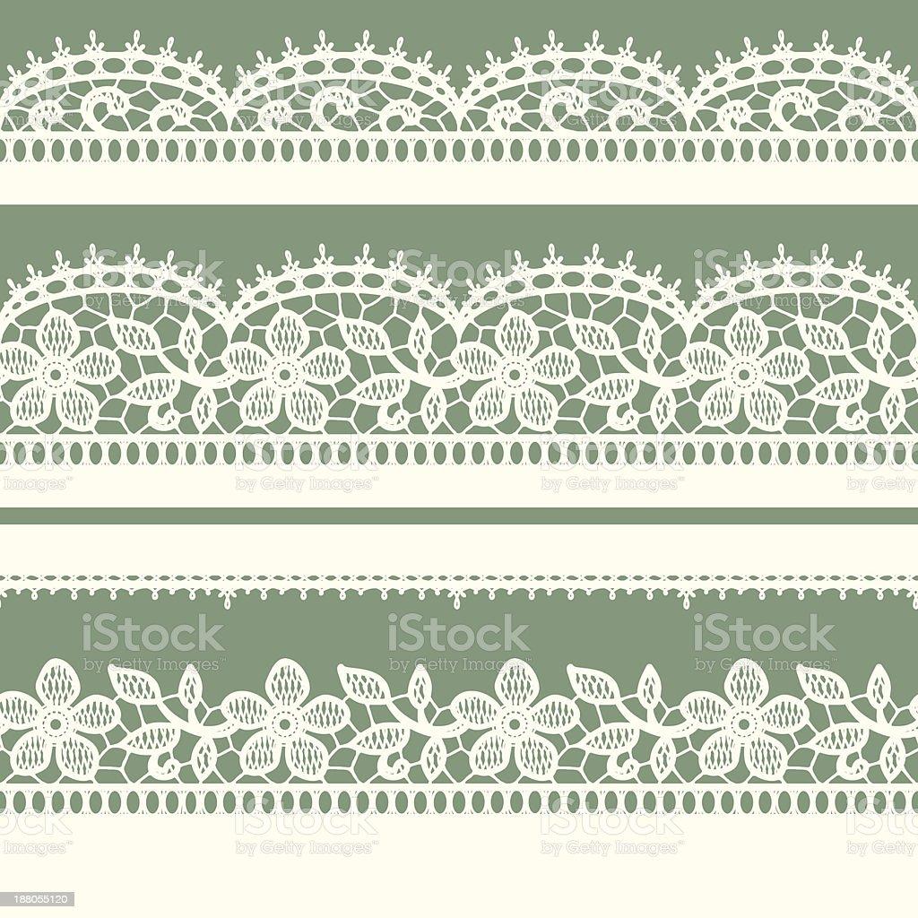 Ribbon seamless pattern vector art illustration