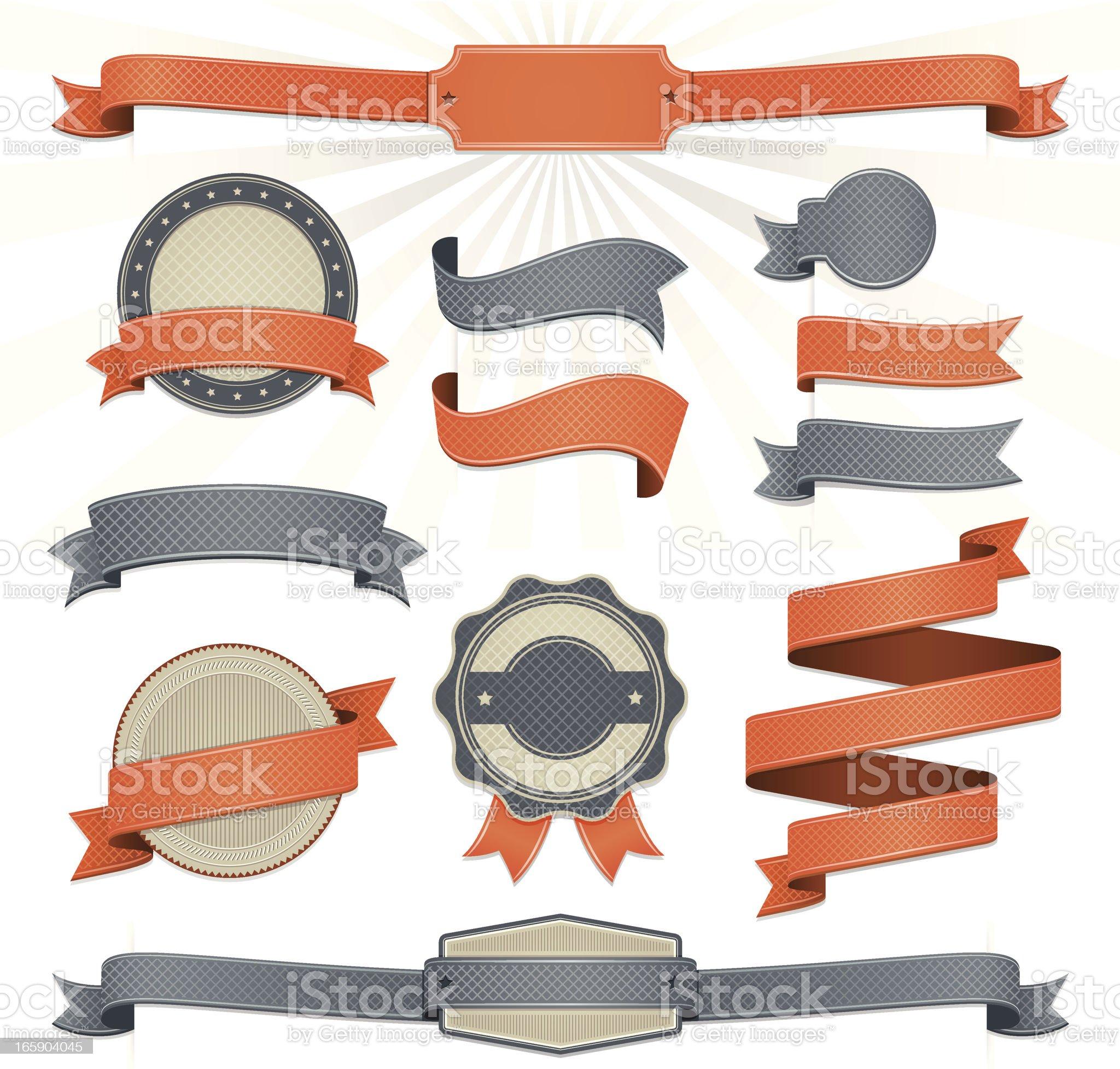 Ribbon Set royalty-free stock vector art