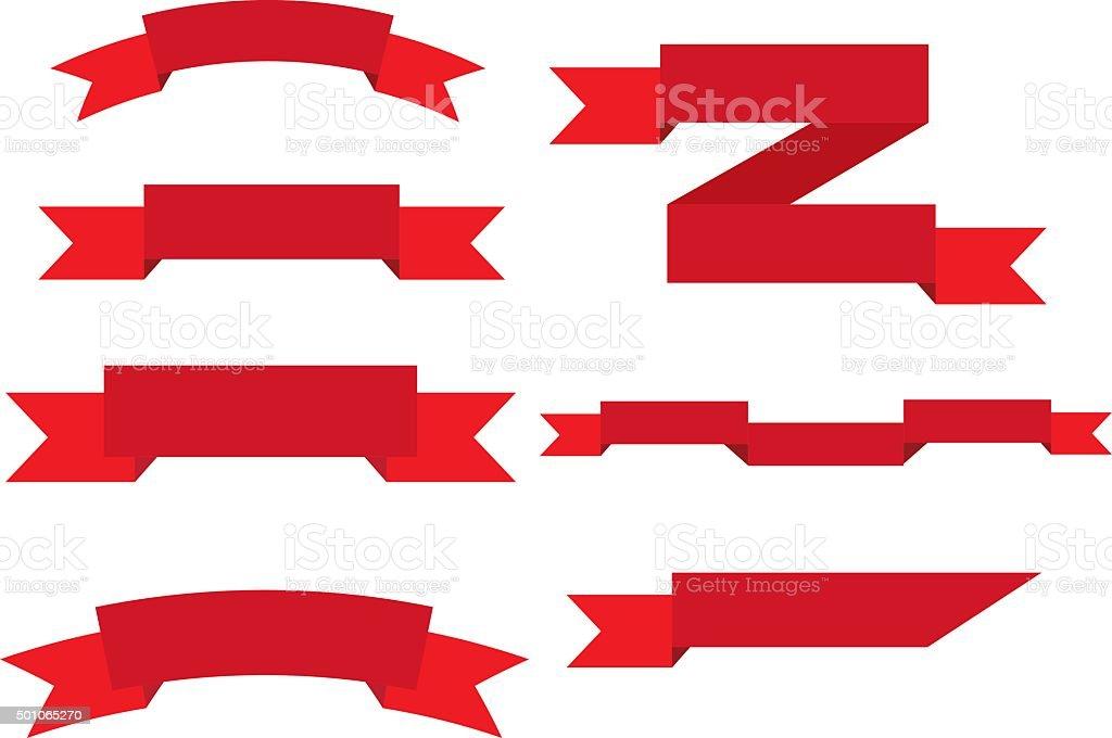 ribbon set vector vector art illustration
