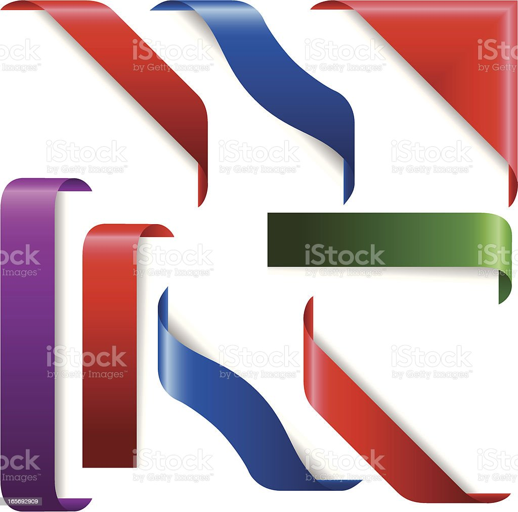 ribbon vector art illustration