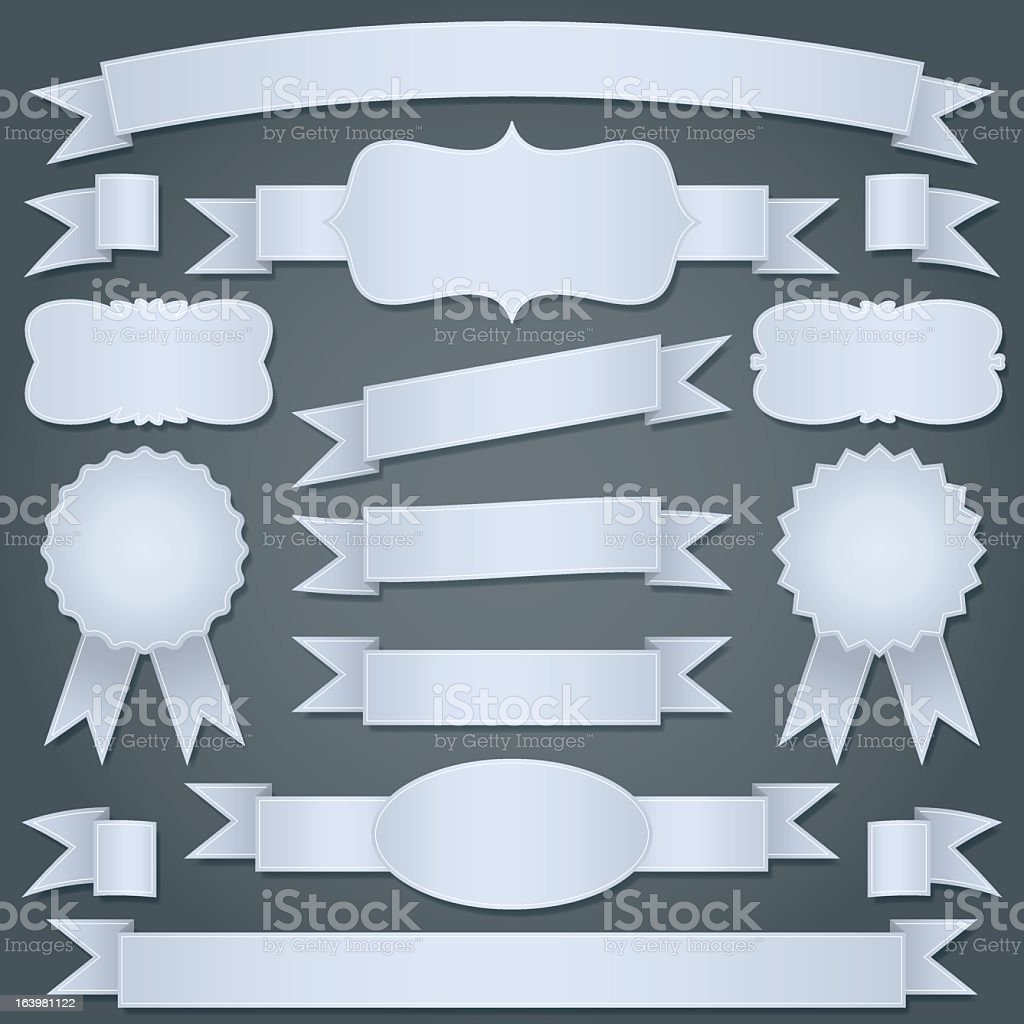 ribbons and labels royalty-free stock vector art