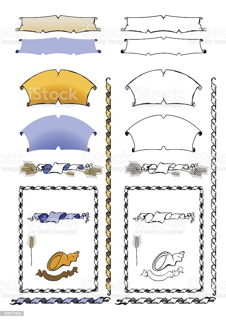 ribbons and scrolls royalty-free stock vector art