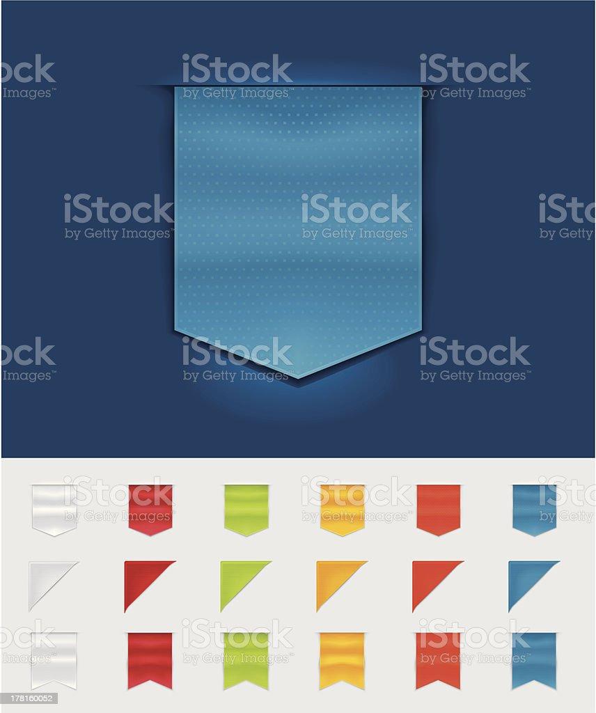 Ribbons and tags royalty-free stock vector art