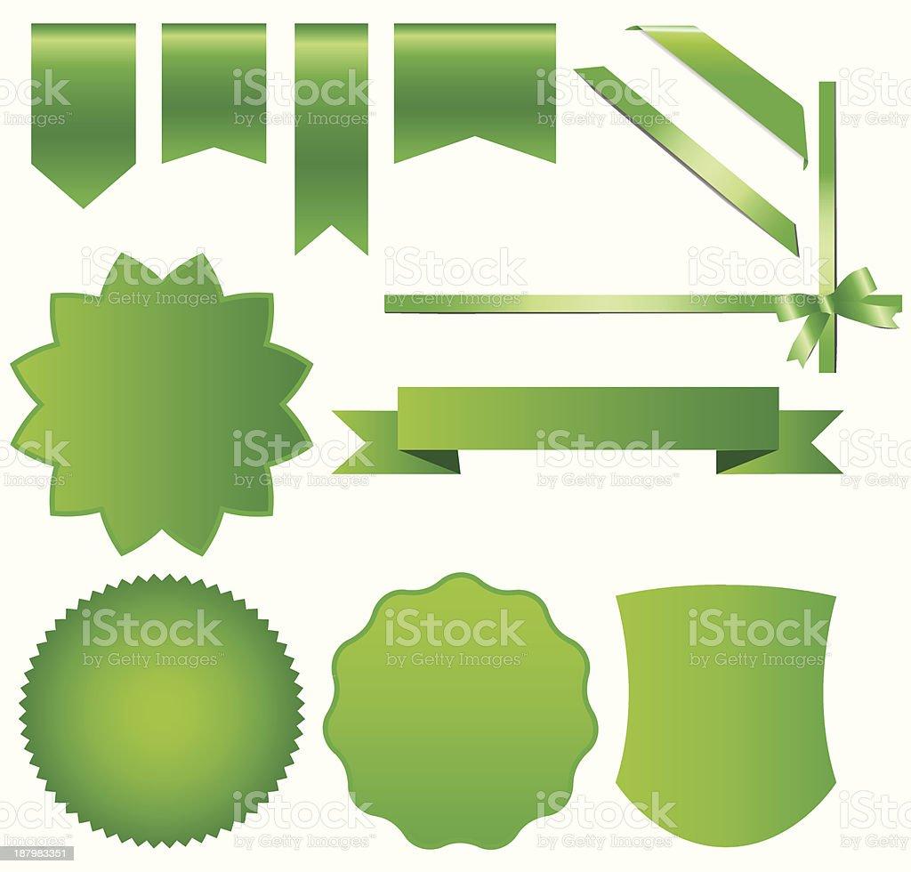 ribbons labels vector art illustration