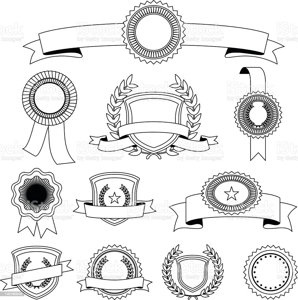 Ribbons set royalty-free stock vector art