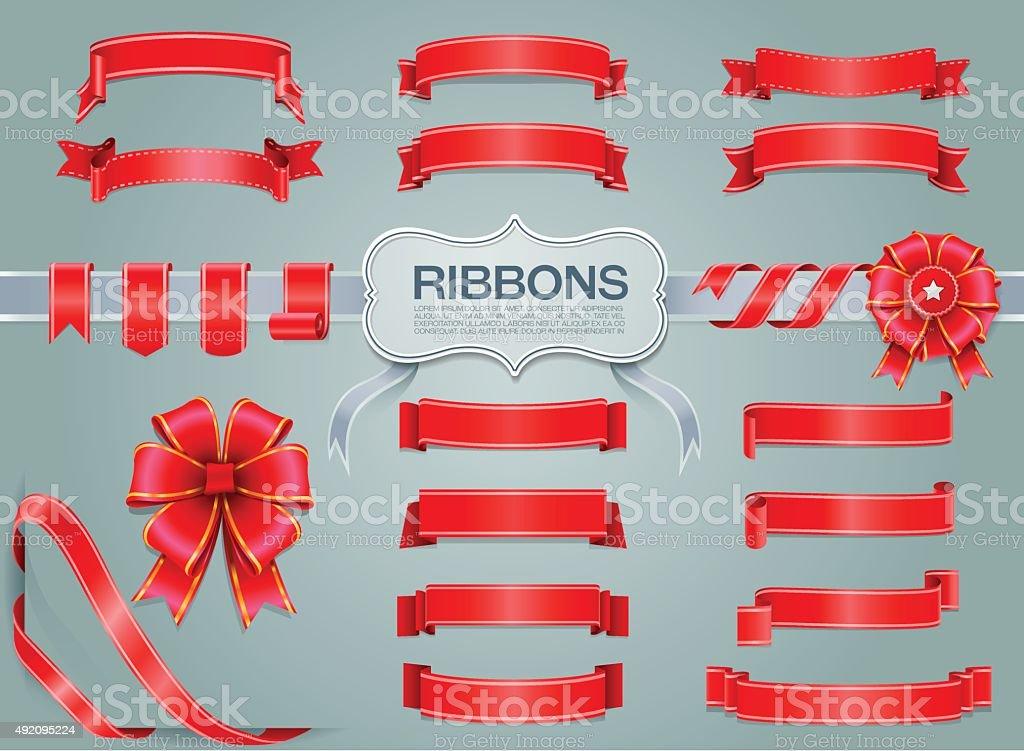 ribbons vector art illustration
