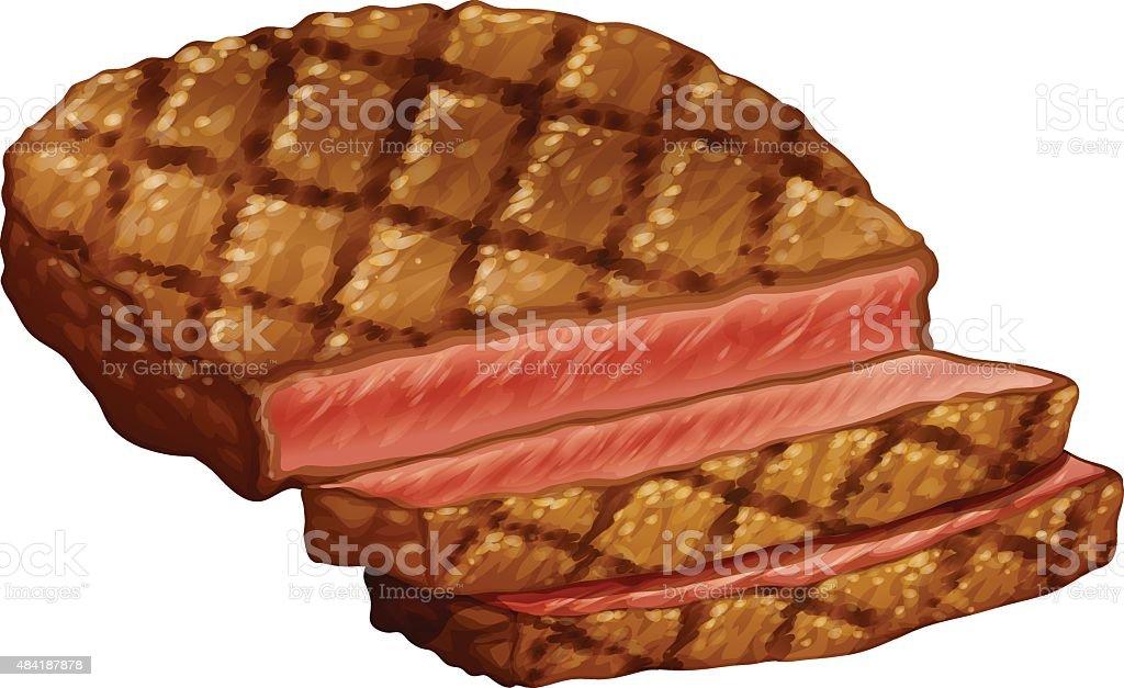 Ribeye steak vector art illustration