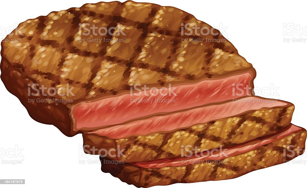 Ribeye steak vector art illustration