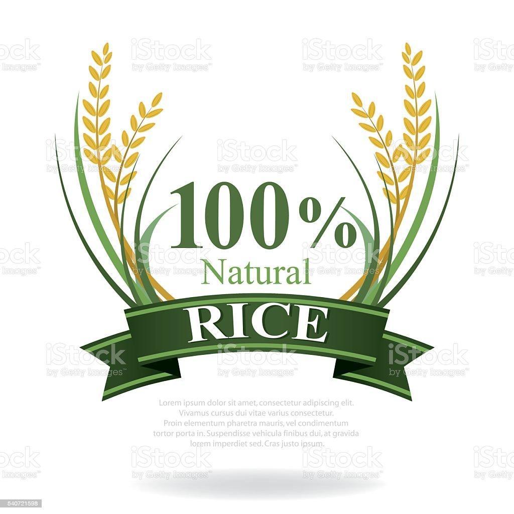 rice badges vector art illustration
