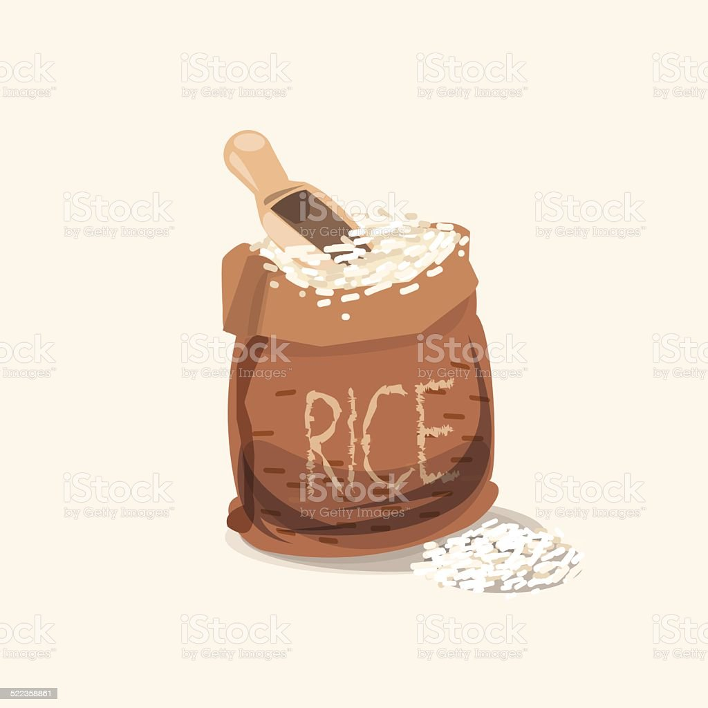 rice bag - vector illustration vector art illustration