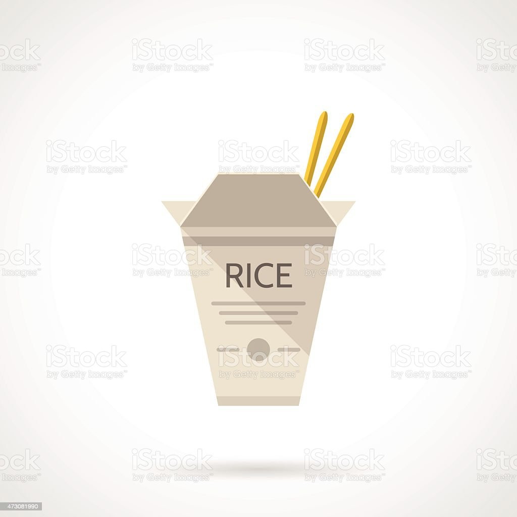 Rice box flat vector icon vector art illustration