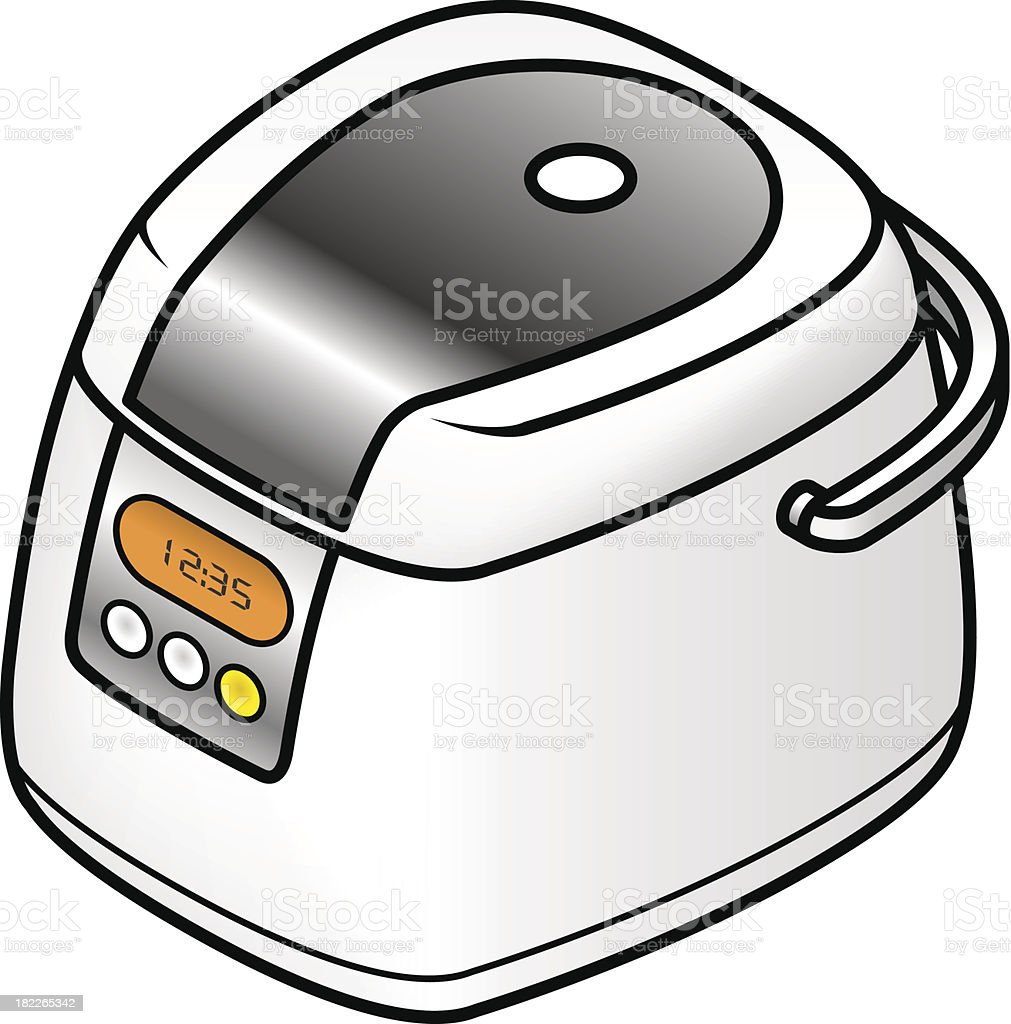 Rice cooker royalty-free stock vector art