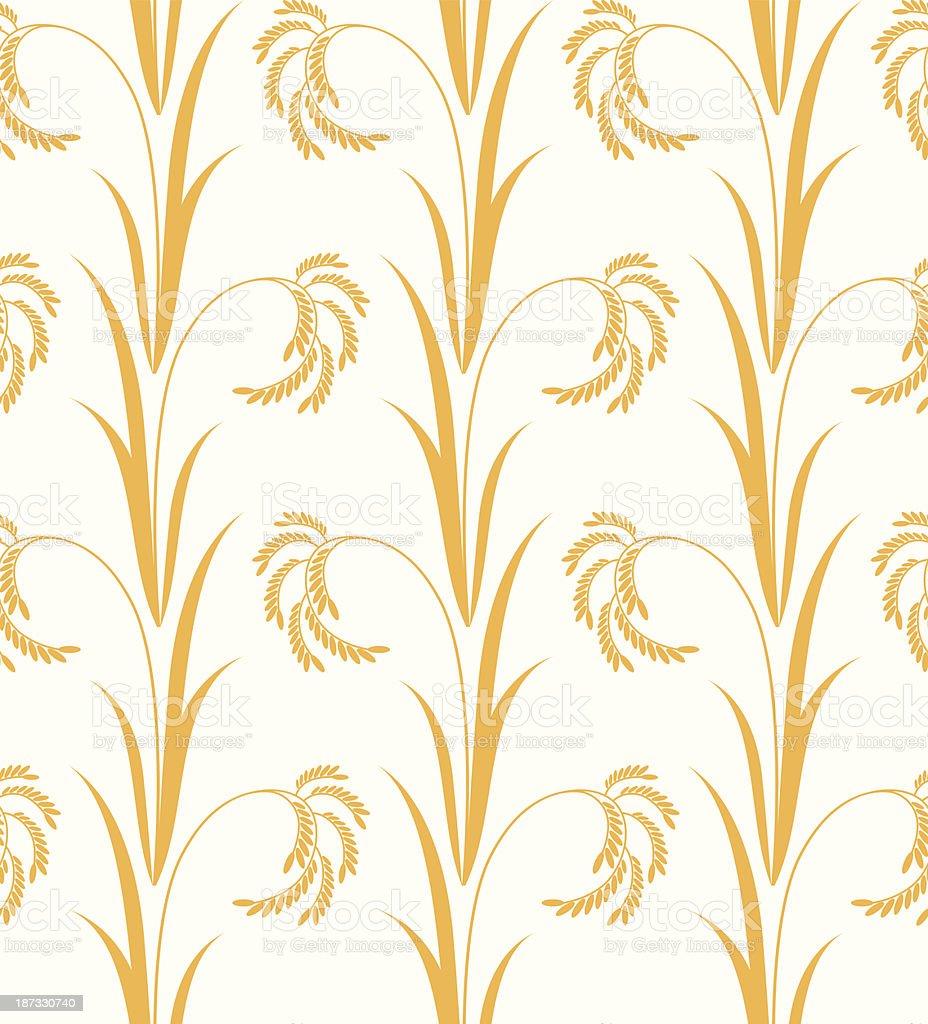 Rice. Pattern vector art illustration