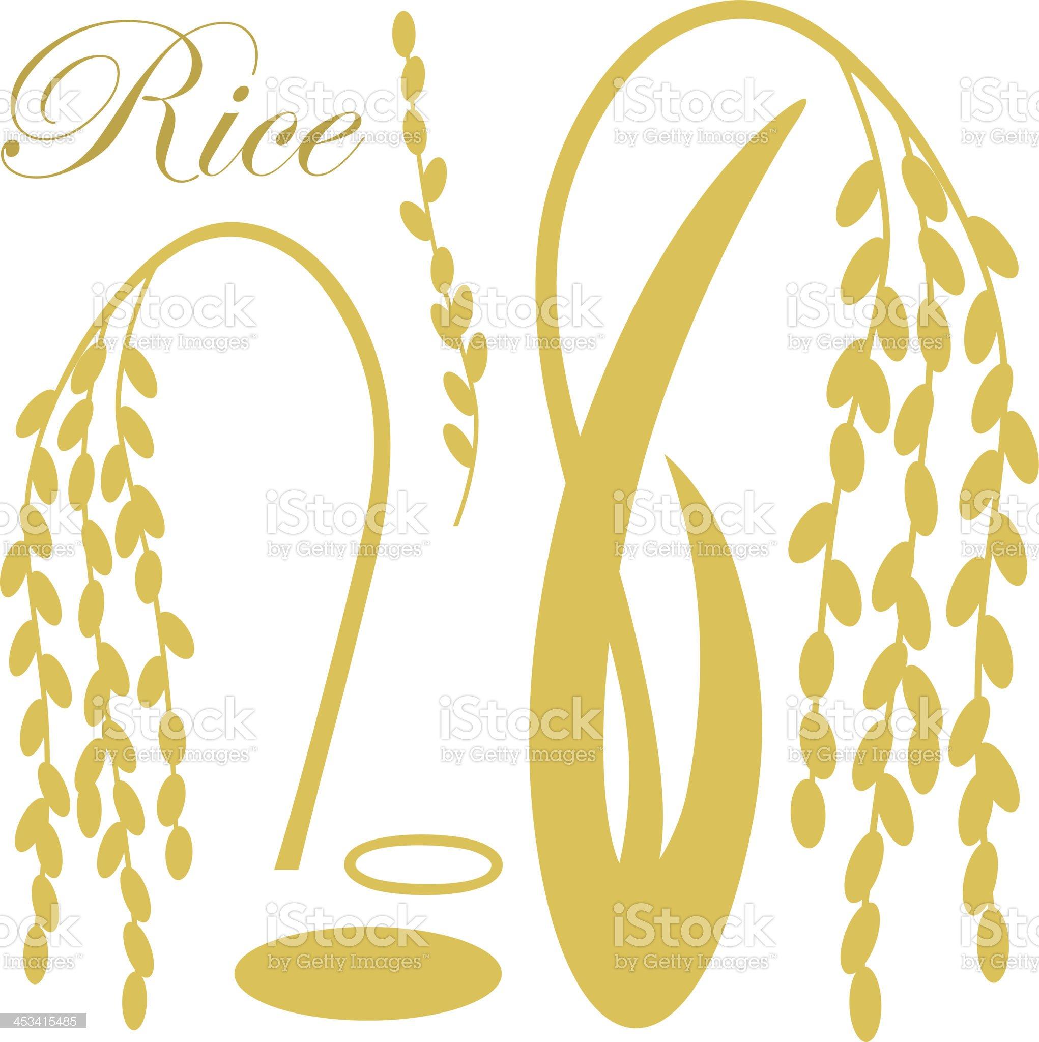 Rice royalty-free stock vector art
