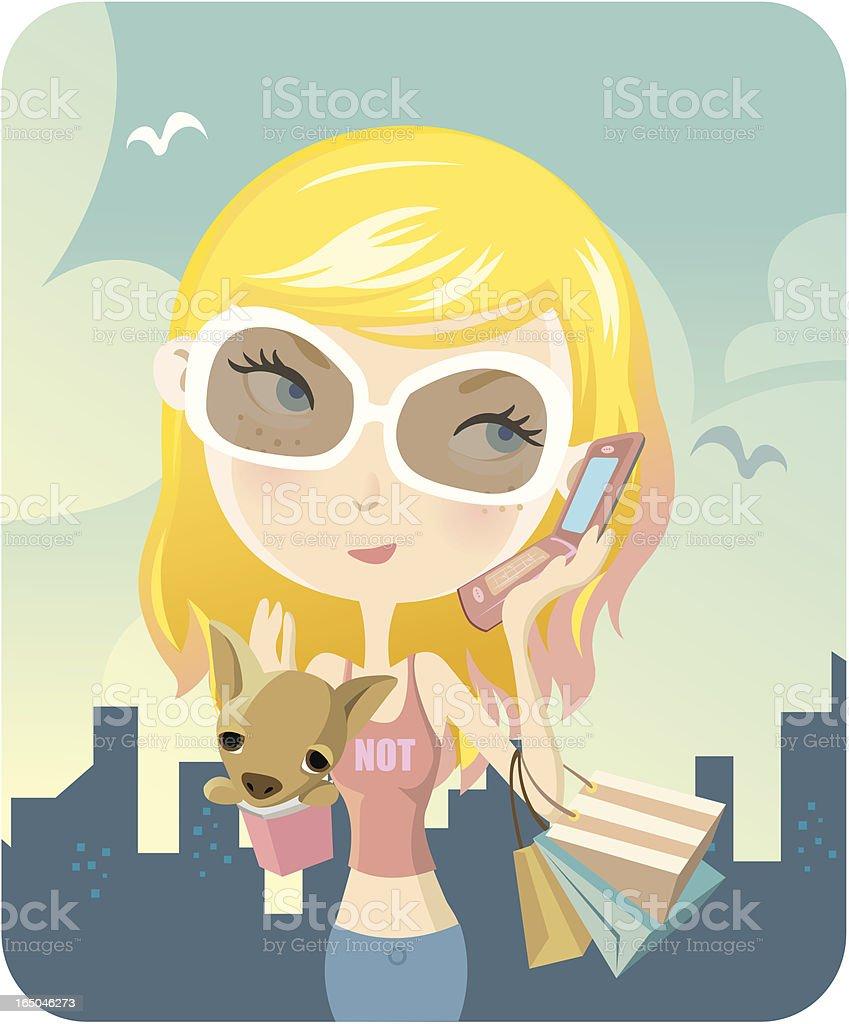 Rich Girl vector art illustration