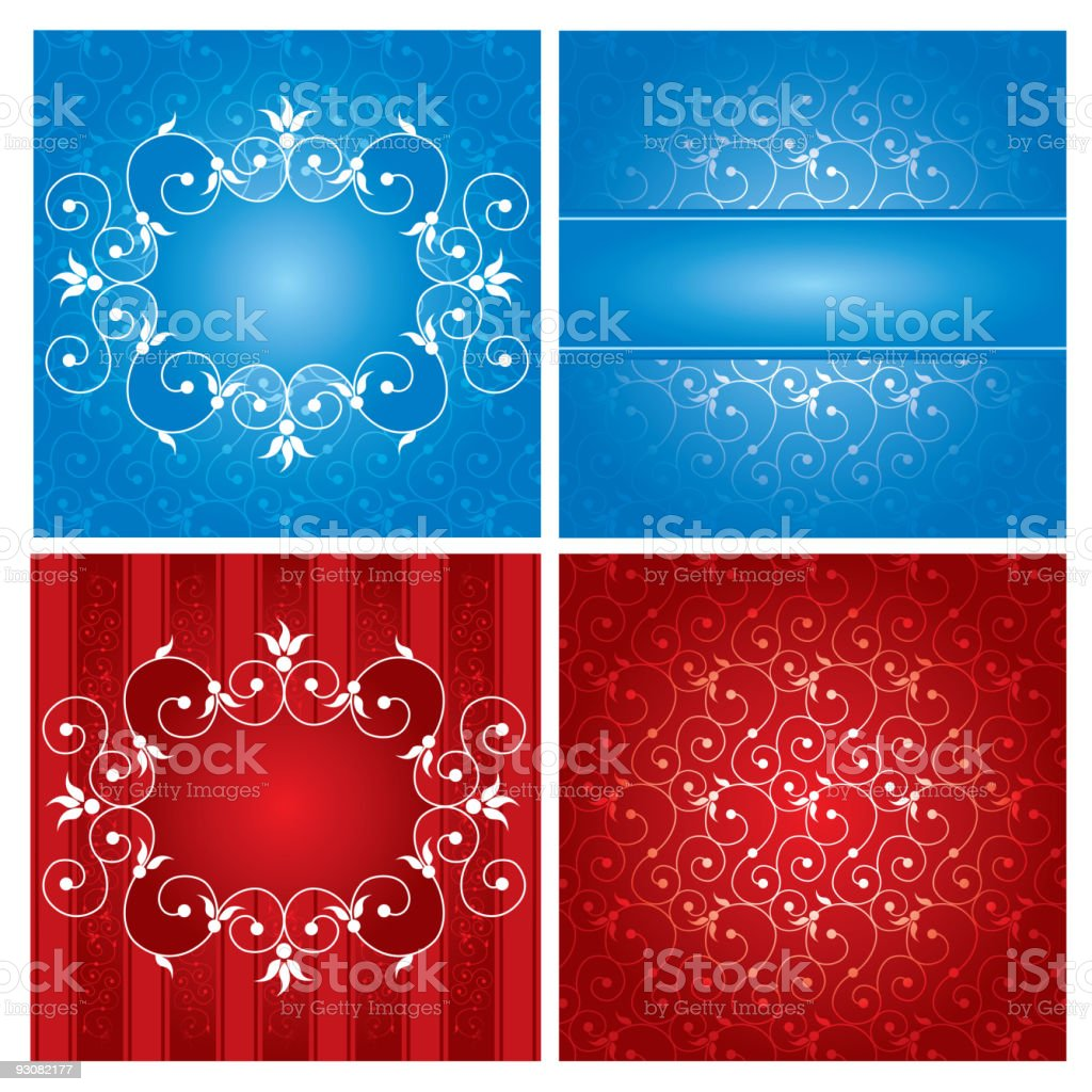 Rich ornate label royalty-free stock vector art