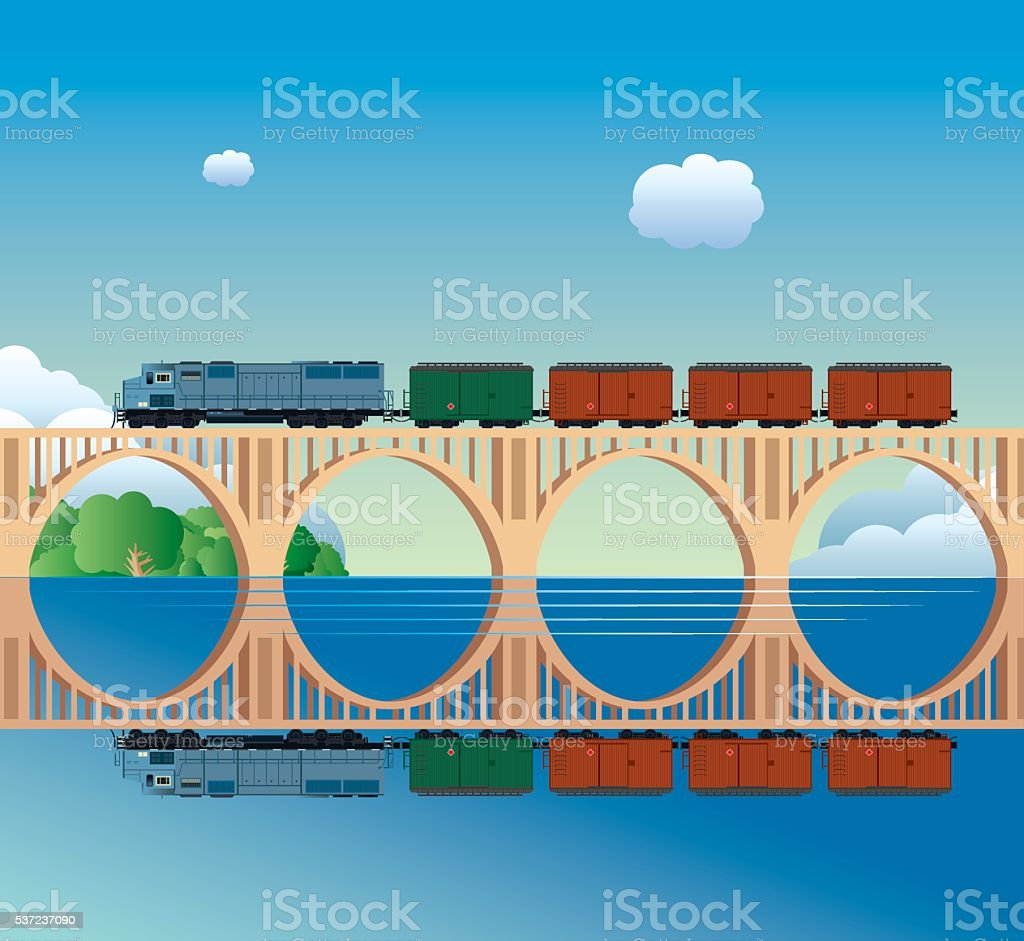 Richmond Bridge vector art illustration