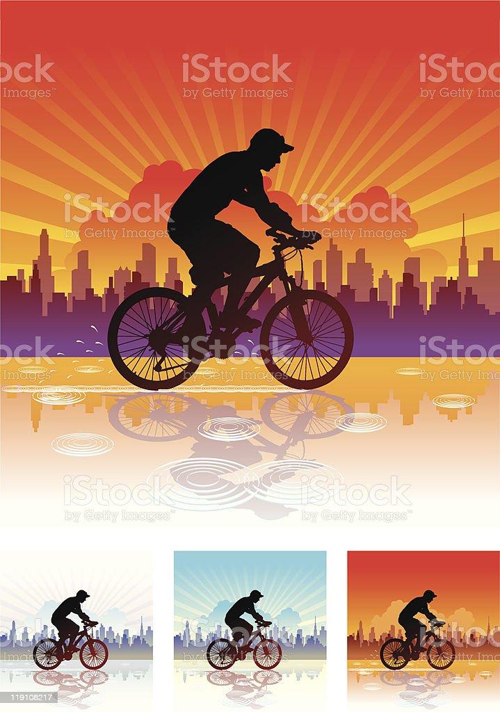 Ride After Rain royalty-free stock vector art