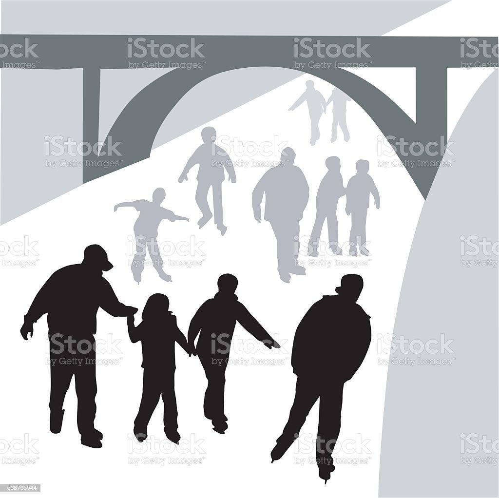 Rideau Canal vector art illustration