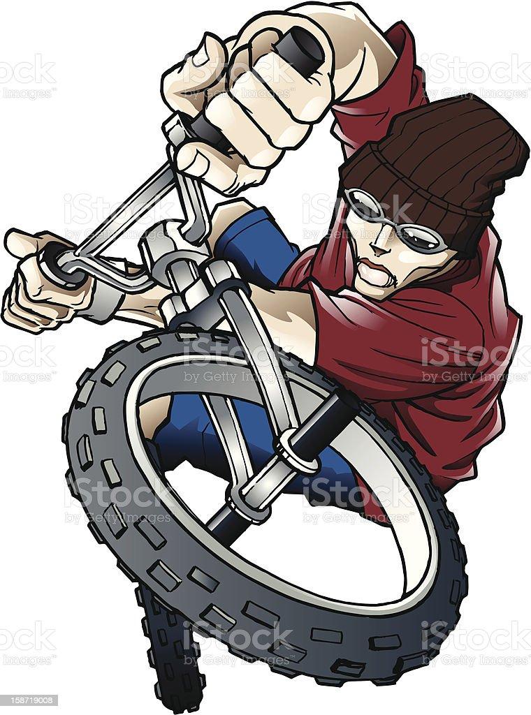 BMX Rider vector art illustration