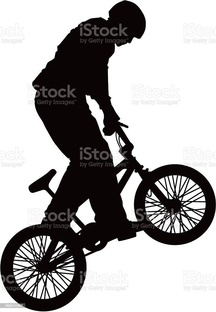 BMX Rider (Vector) royalty-free stock vector art