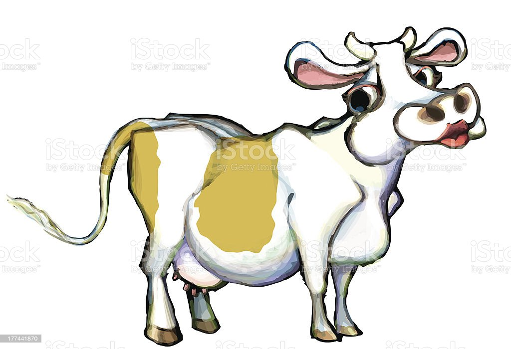 Ridiculous Cow royalty-free stock vector art