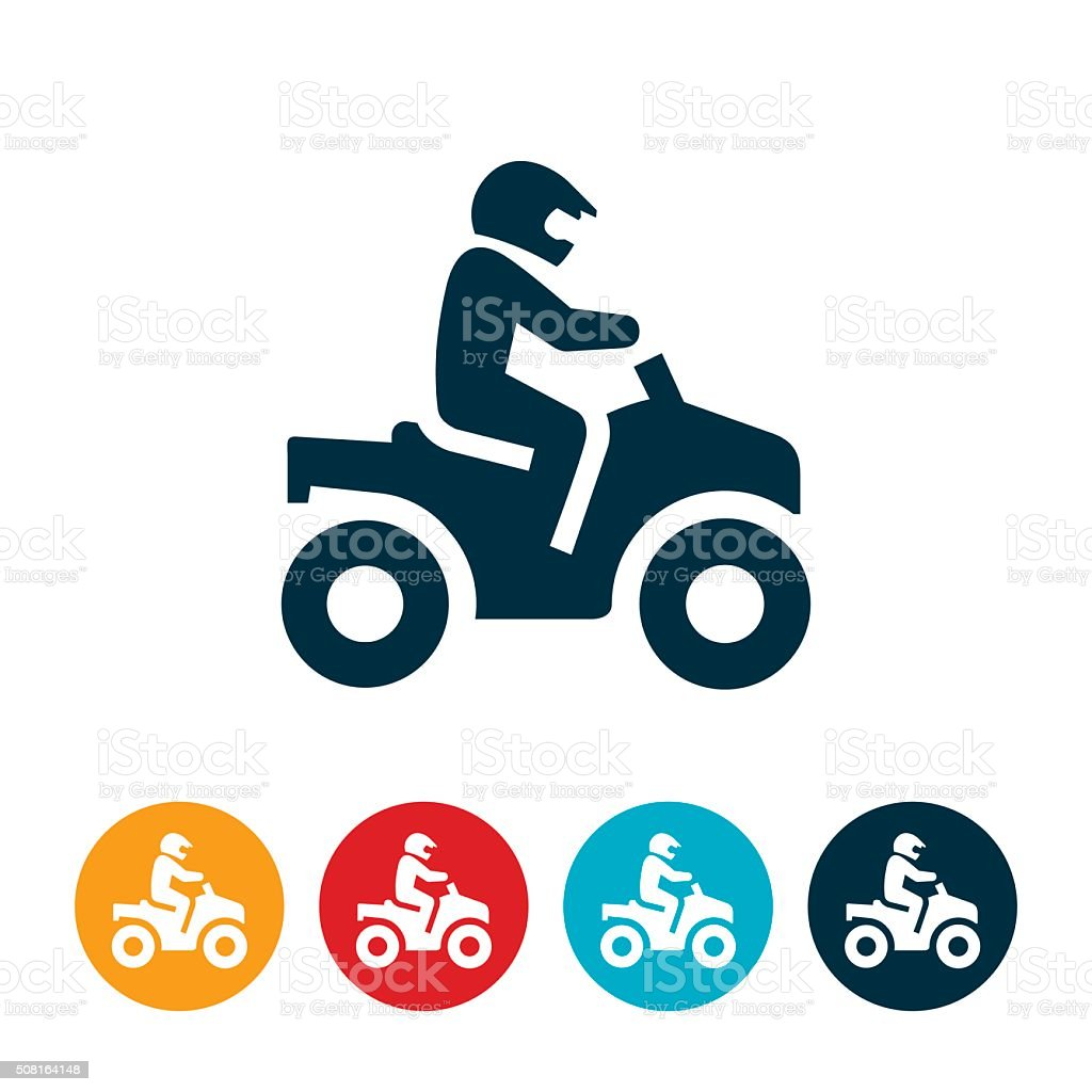 ATV Riding Icon vector art illustration
