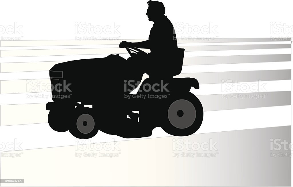 Riding Lawnmower (Vector) royalty-free stock vector art