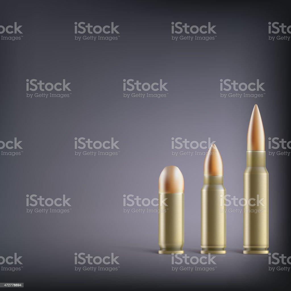 Rifle bullets. vector art illustration