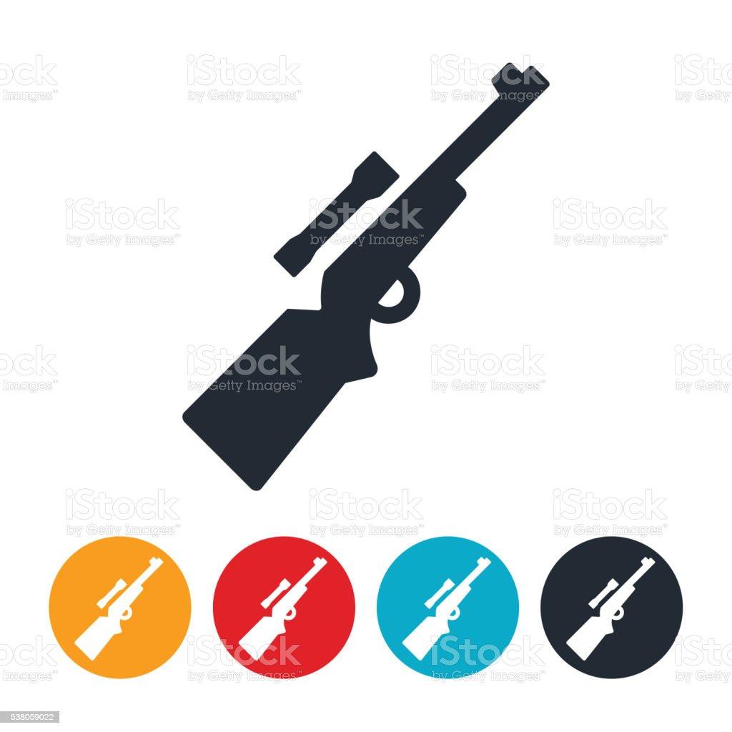 Rifle Icon vector art illustration
