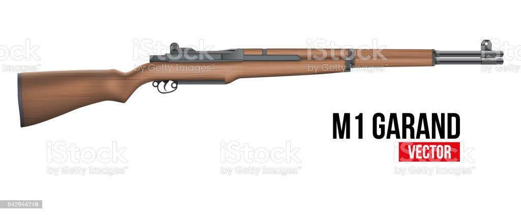 Rifle M1 Garand Vector vector art illustration