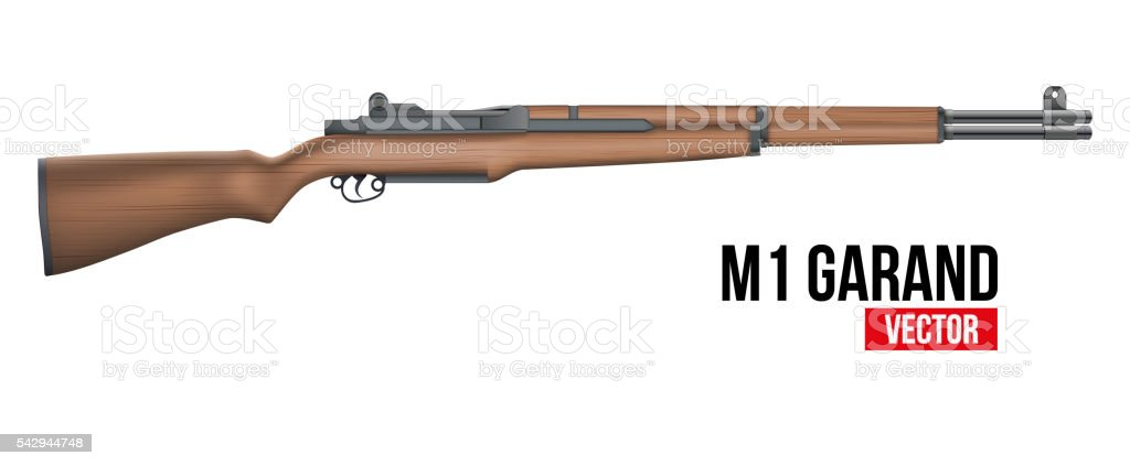 Rifle M1 Garand Vector vector art illustration