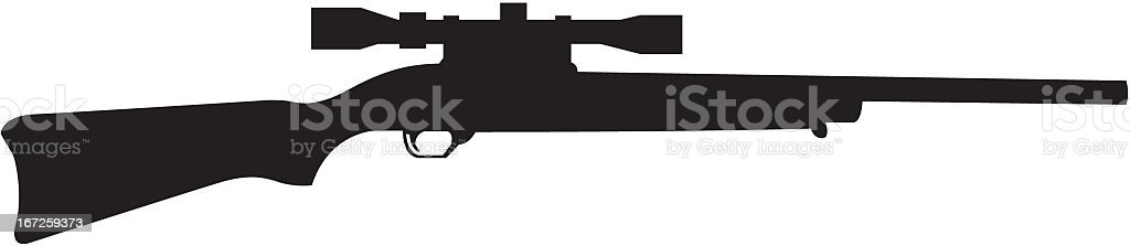 Rifle Silhouette vector art illustration