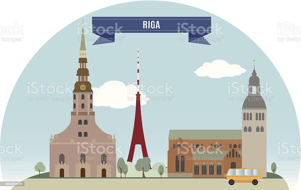 Riga vector art illustration