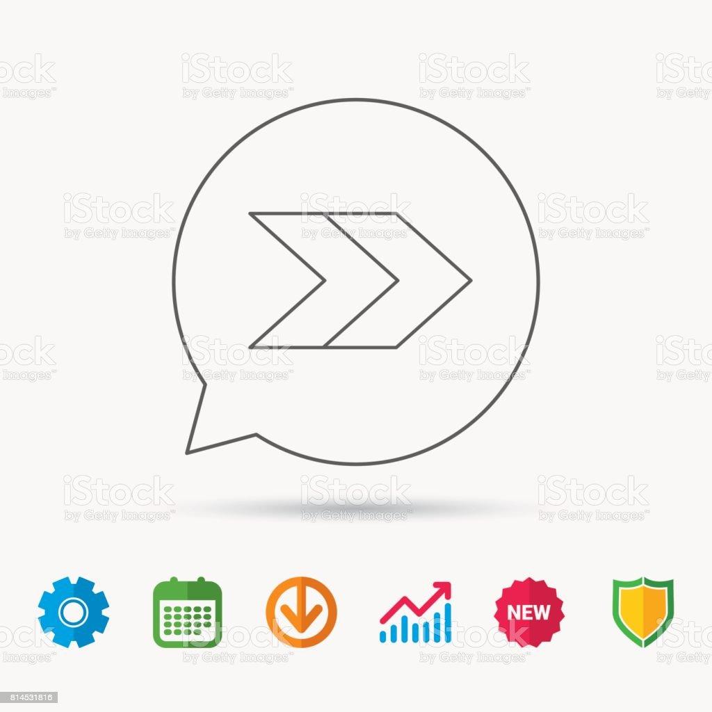 Right arrow icon. Forward sign. vector art illustration