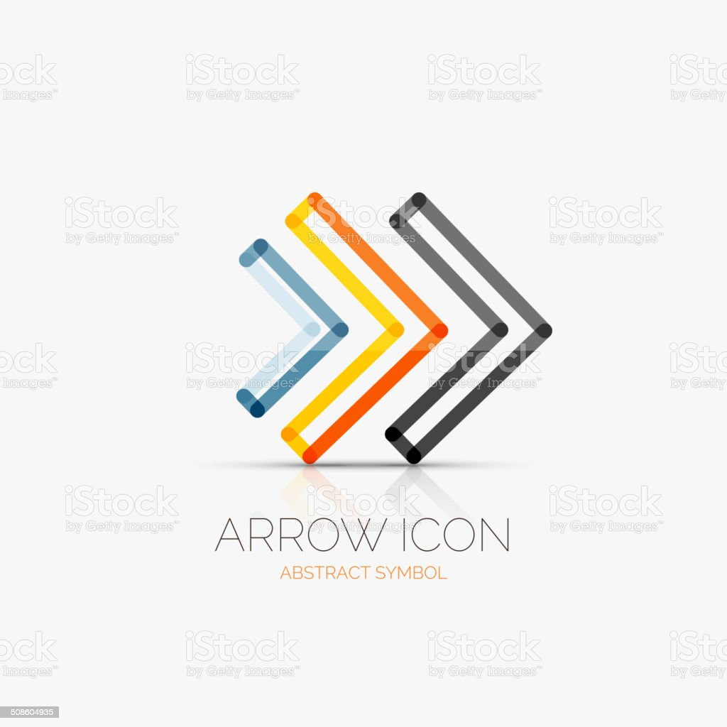 Right arrows    icon, business concept vector art illustration