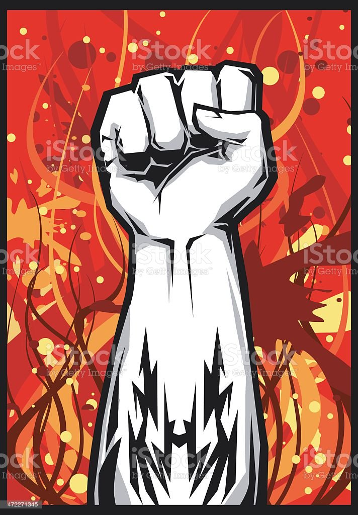 Right Hand Power! royalty-free stock vector art
