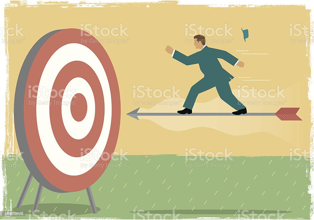 Right on target royalty-free stock vector art
