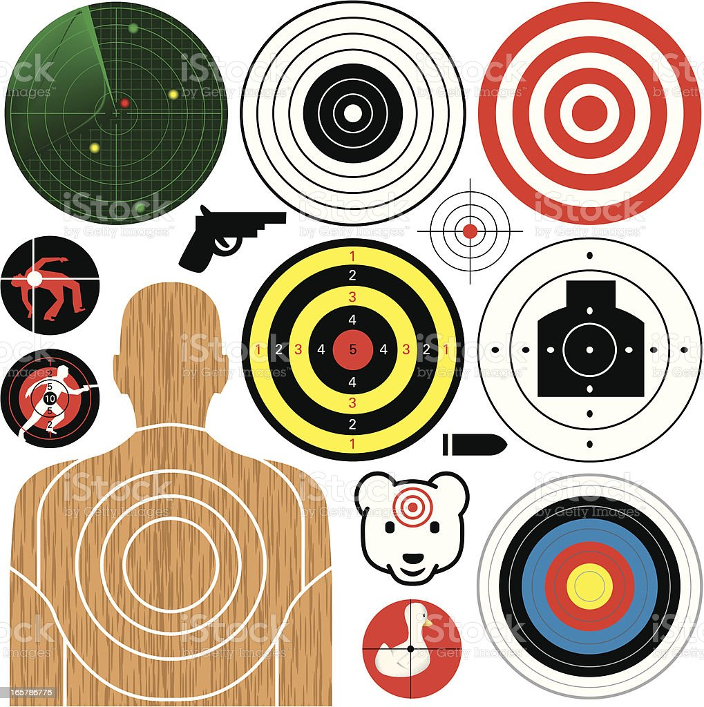 Right on Target vector art illustration
