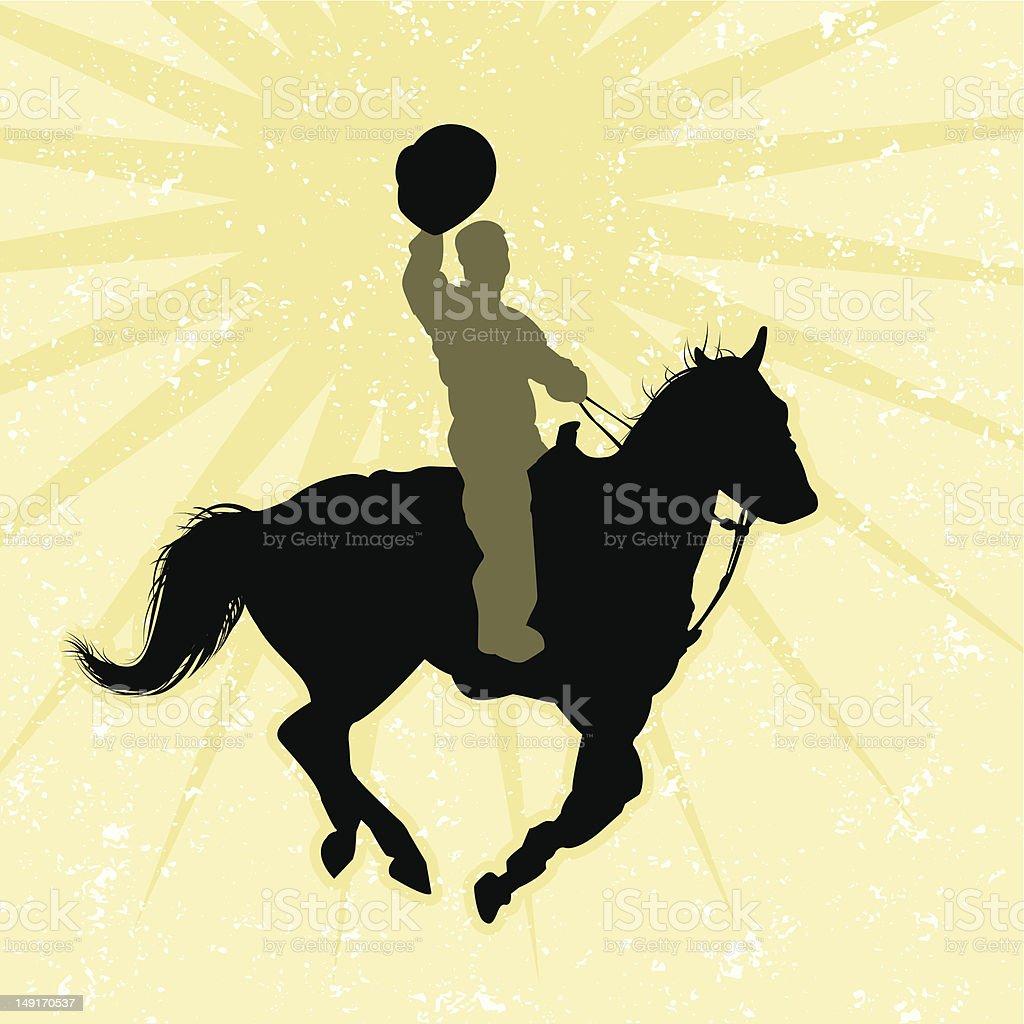 Rinestone Rodeo Rider Yahooooooo vector art illustration
