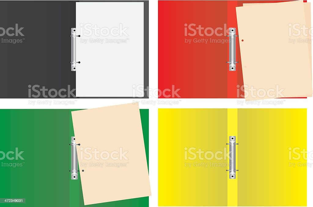 Ring Binder & Folder for filing documents and papers royalty-free stock vector art